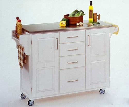 tủ bếp di động màu trắng